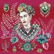 Deko žakard, panel, Frida Kahlo, 22077-3, roza
