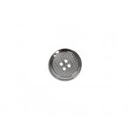 Gumb, kovinski, modni, 15 mm, 22115-105, srebrna