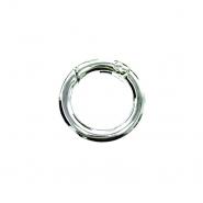 Karabin, okrogli, 19 mm, 22154-101, srebrna