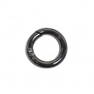 Karabin, okrogli, 19 mm, 22154-105, črna