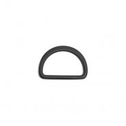 Polobroč, kovinski, 25 mm, 22204-130, mat črna