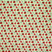 Bombaž, poplin, sadje, 22219-006, zelena
