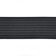 Elastika, okrasna, črte, 60 mm, 22251-002, črna