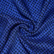 Tkanina, viskoza, geometrijski, 21776-112, plava