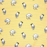 Bombaž, poplin, otroški, 22293-001, rumena