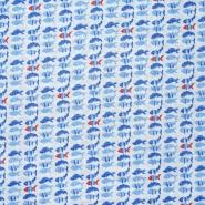 Bombaž, poplin, morski, 22416-21, svetlo modra