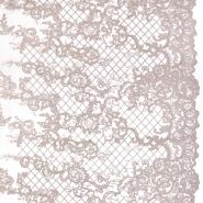 Čipka, prožna, cvetlični, 22421-4, roza