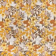 Tkanina, viskoza, cvetlični, 22447-570, oker