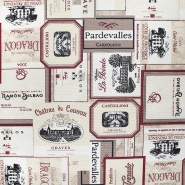 Deko, tisk, impregniran, vinske etikete, 22482