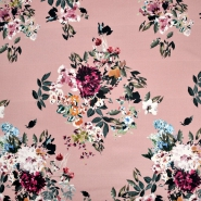 Satin, Baumwolle, floral, 22675-3, rosa