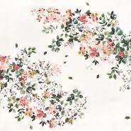 Saten, pamuk, cvjetni, 22675-6, boja vrhnja