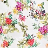Tkanina, viskoza, cvetlični, 22684-3, smetana
