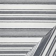 Deko žakard, črte, 22689-3, modra