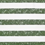Jersey, bombaž, črte, 22686-201, zelena
