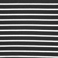 Jersey, viskoza, črte, 22380-469, črna