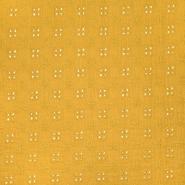 Tetra tkanina, dvojna, rišelje, 22719-033, oker