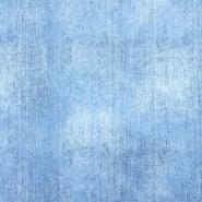 Jersey, bombaž, digital, jeans, 22733-003, svetlo modra