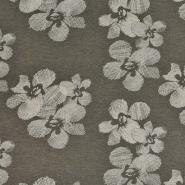 Jersey, viskoza, cvetlični, 22686-301, zelena
