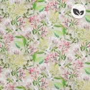 Deko, tisk, organski, digital, cvetlični, 22897-1, roza-zelen