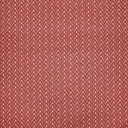 Baumwolle, Popeline, geometrisch, 22998-6, ziegelfarben