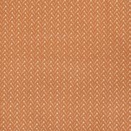 Baumwolle, Popeline, geometrisch, 22998-3, orange