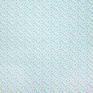 Bombaž, poplin, geometrijski, 23016-2, svetlo modra