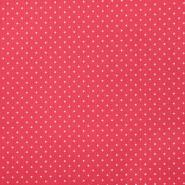 Saten, bombaž, pikice, 23039-52, rdeča