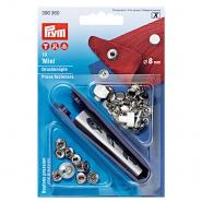 Pritiskači mini z orodjem, Prym, 390360, 8 mm, srebrna