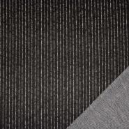 Pletivo, gosto, črte, 23179, črna