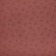 Tetra tkanina, trojna, živalski, 23244-237, opečna