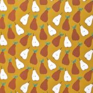 Jersey, bombaž, sadje, 23252-08, oker