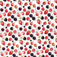 Jersey, bombaž, sadje, 23262-02, bela