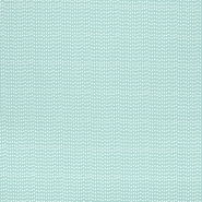Bombaž, poplin, geometrijski, 23288-10, svetlo modra