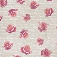 Deko, tisk, cvetlični, 23335-1860