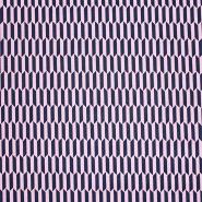 Bombaž, poplin, geometrijski, 23360-014, modra