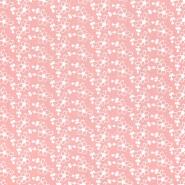 Bombaž, rišelje, cvetlični, 23407-005, roza