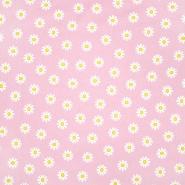 Bombaž, poplin, cvetlični, 23414-001, svetlo roza