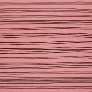 Prevešanka, kosmatena, črte, 23419-012, roza