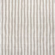 Tkanina, tanjša, črte, 23441-002, bež