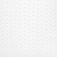 Tetra tkanina, dvojna, rišelje, cvetlični, 23450-004, bela