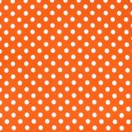 Jersey, bombaž, pike, 23524-5, oranžna