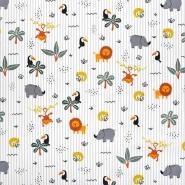 Pamuk, popelin, životinjski, 23542-003, siva