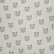 Tetra tkanina, dvojna, živalski, 23546-004, sivobež