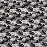 Pamuk, popelin, kamuflažni, 23656-16, siva