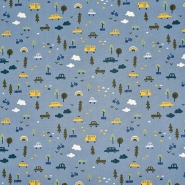 Pamuk, popelin, dječji, 11418-003, plava