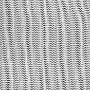 Jersey, bombaž, geometrijski, 23811-02, bela