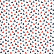 Jersey, bombaž, geometrijski, 23813-02, bela