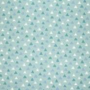 Jersey, bombaž, geometrijski, 23813-10, mint