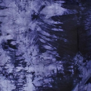 Poliamid, elastan, mat, tie-dye, 23850-3, modro-vijola