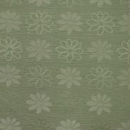 Otoman, žakard, 4146-205, olivno zelena
